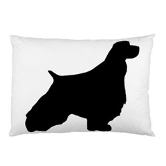 English Springer Spaniel Silo Black Pillow Case