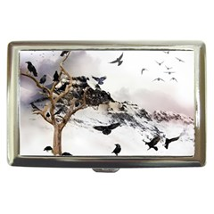 Birds Crows Black Ravens Wing Cigarette Money Cases