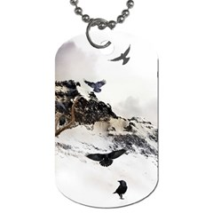 Birds Crows Black Ravens Wing Dog Tag (two Sides)