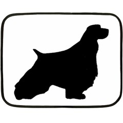 English Springer Spaniel Silo Black Double Sided Fleece Blanket (Mini)