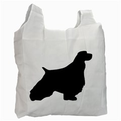 English Springer Spaniel Silo Black Recycle Bag (Two Side)