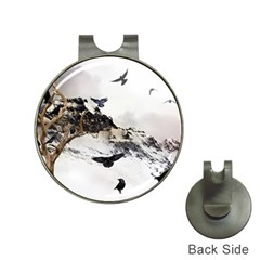 Birds Crows Black Ravens Wing Hat Clips with Golf Markers