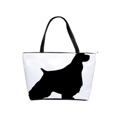English Springer Spaniel Silo Black Shoulder Handbags