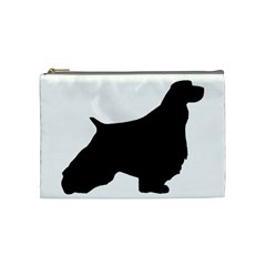 English Springer Spaniel Silo Black Cosmetic Bag (Medium)