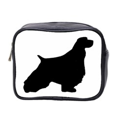 English Springer Spaniel Silo Black Mini Toiletries Bag 2-Side