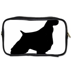 English Springer Spaniel Silo Black Toiletries Bags