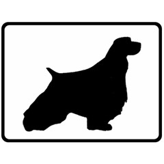 English Springer Spaniel Silo Black Fleece Blanket (Large)