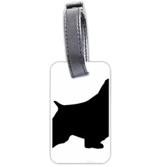 English Springer Spaniel Silo Black Luggage Tags (One Side)