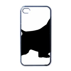 English Springer Spaniel Silo Black Apple iPhone 4 Case (Black)