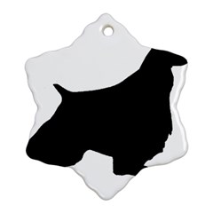 English Springer Spaniel Silo Black Snowflake Ornament (Two Sides)