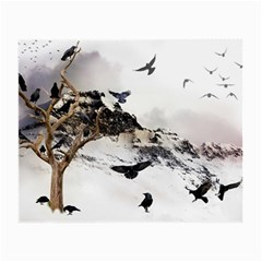 Birds Crows Black Ravens Wing Small Glasses Cloth (2 Side)