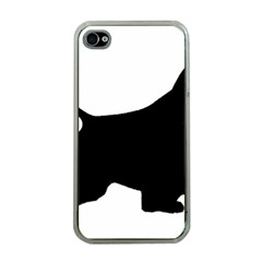 English Springer Spaniel Silo Black Apple iPhone 4 Case (Clear)