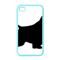 English Springer Spaniel Silo Black Apple iPhone 4 Case (Color)