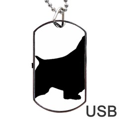English Springer Spaniel Silo Black Dog Tag USB Flash (Two Sides)
