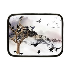 Birds Crows Black Ravens Wing Netbook Case (small)