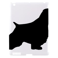 English Springer Spaniel Silo Black Apple iPad 3/4 Hardshell Case (Compatible with Smart Cover)