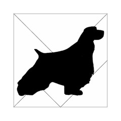English Springer Spaniel Silo Black Acrylic Tangram Puzzle (6  x 6 )