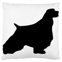 English Springer Spaniel Silo Black Large Cushion Case (One Side)