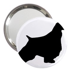 English Springer Spaniel Silo Black 3  Handbag Mirrors