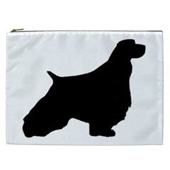 English Springer Spaniel Silo Black Cosmetic Bag (XXL)