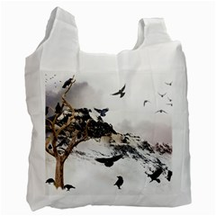 Birds Crows Black Ravens Wing Recycle Bag (two Side)