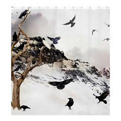Birds Crows Black Ravens Wing Shower Curtain 66  X 72  (large)