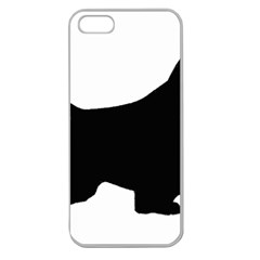 English Springer Spaniel Silo Black Apple Seamless iPhone 5 Case (Clear)