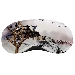 Birds Crows Black Ravens Wing Sleeping Masks
