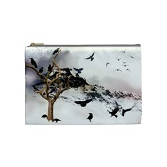 Birds Crows Black Ravens Wing Cosmetic Bag (Medium)