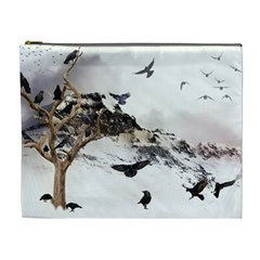 Birds Crows Black Ravens Wing Cosmetic Bag (xl)
