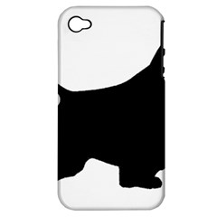 English Springer Spaniel Silo Black Apple iPhone 4/4S Hardshell Case (PC+Silicone)