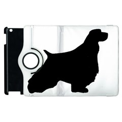English Springer Spaniel Silo Black Apple iPad 2 Flip 360 Case