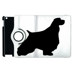 English Springer Spaniel Silo Black Apple iPad 3/4 Flip 360 Case