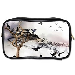 Birds Crows Black Ravens Wing Toiletries Bags