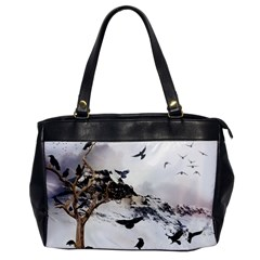 Birds Crows Black Ravens Wing Office Handbags