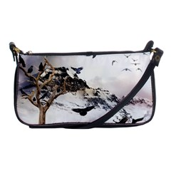 Birds Crows Black Ravens Wing Shoulder Clutch Bags