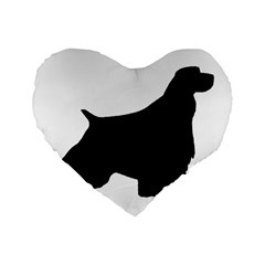 English Springer Spaniel Silo Black Standard 16  Premium Heart Shape Cushions