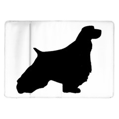 English Springer Spaniel Silo Black Samsung Galaxy Tab 10.1  P7500 Flip Case