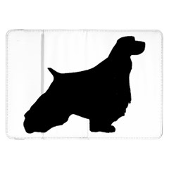 English Springer Spaniel Silo Black Samsung Galaxy Tab 8.9  P7300 Flip Case