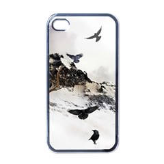 Birds Crows Black Ravens Wing Apple Iphone 4 Case (black)