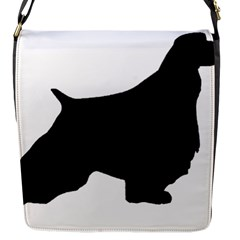 English Springer Spaniel Silo Black Flap Messenger Bag (S)