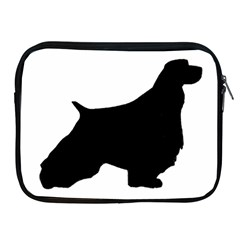 English Springer Spaniel Silo Black Apple iPad 2/3/4 Zipper Cases