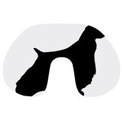 English Springer Spaniel Silo Black Travel Neck Pillows