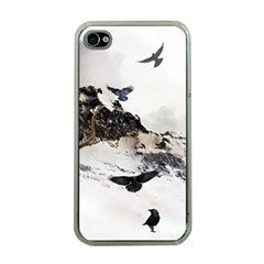 Birds Crows Black Ravens Wing Apple iPhone 4 Case (Clear)
