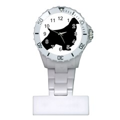 English Springer Spaniel Silo Black Plastic Nurses Watch
