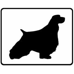 English Springer Spaniel Silo Black Double Sided Fleece Blanket (Medium)