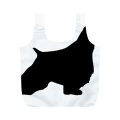 English Springer Spaniel Silo Black Full Print Recycle Bags (M)