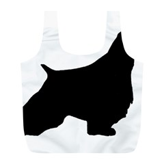 English Springer Spaniel Silo Black Full Print Recycle Bags (L)