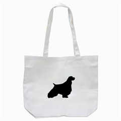 English Springer Spaniel Silo Black Tote Bag (White)
