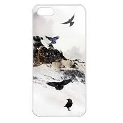 Birds Crows Black Ravens Wing Apple Iphone 5 Seamless Case (white)